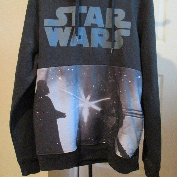 New Young Mens  Black Star Wars Sweatshirt Hoodie